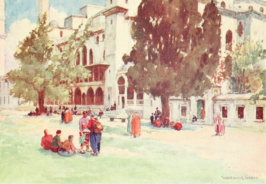Constantinople Painted and Described - Court of the Suleimaniyeh (1906)