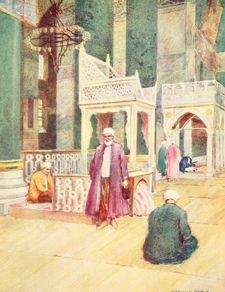 Constantinople Painted and Described - Interior of S. Sophia (1906)