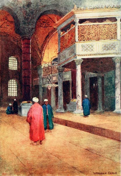 Constantinople Painted and Described - Interior of S. Sophia, the Sultan's Gallery (1906)