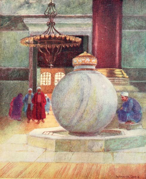 Constantinople Painted and Described - Fountain in S. Sophia (1906)