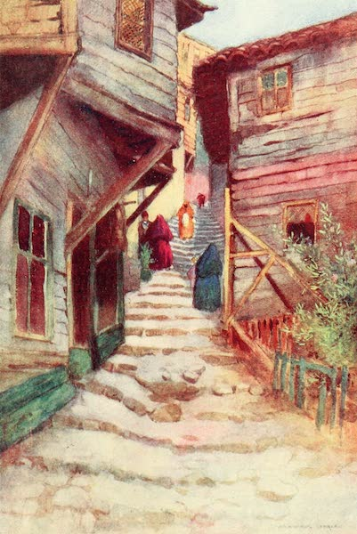 Constantinople Painted and Described - A Step Street (1906)