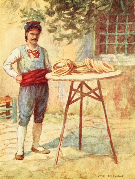 Constantinople Painted and Described - Simit-Seller (1906)
