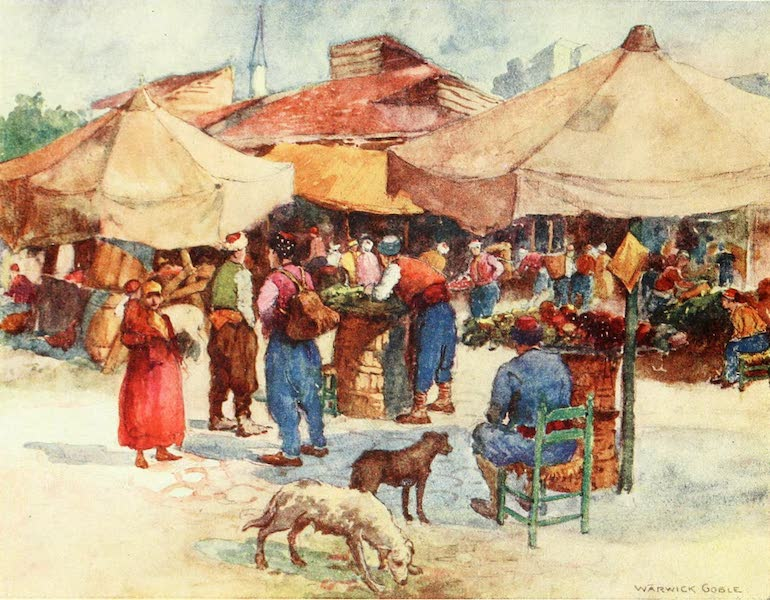Constantinople Painted and Described - Market at Scutari (1906)