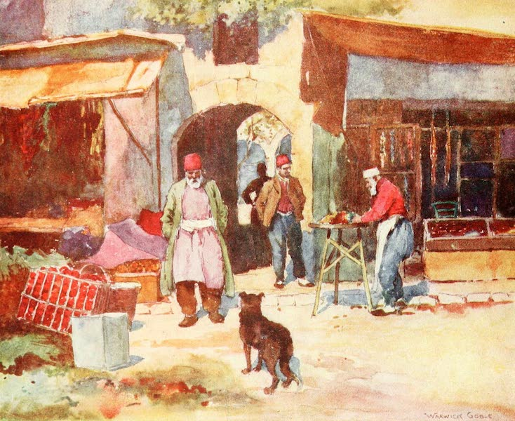 Constantinople Painted and Described - Entrance to a Turkish Khan (1906)