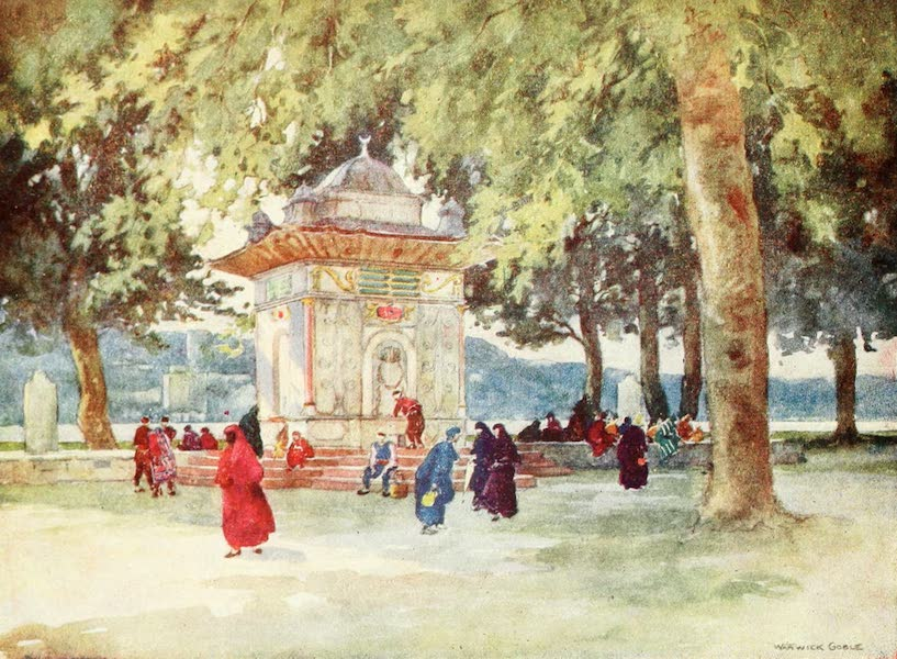 Constantinople Painted and Described - A Fountain by the Bosporus (1906)