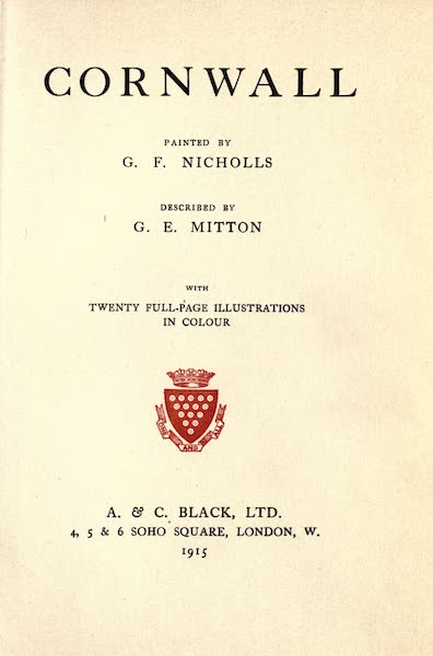 Cornwall Painted and Described - Title Page (1915)