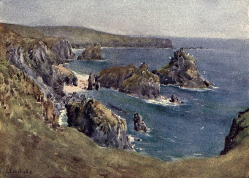 Cornwall Painted and Described - Kynance Cove (1915)