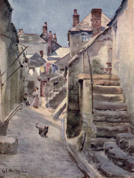 Cornwall Painted and Described - A Street in St. Ives (1915)