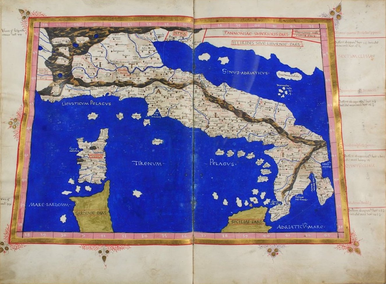 Ptolemy's Map of Europe - VI