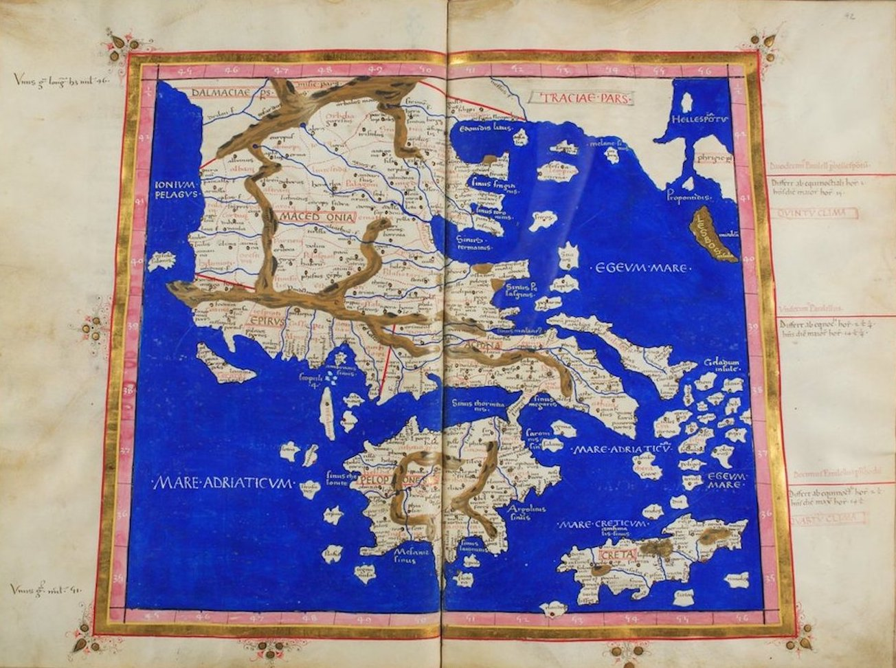 Ptolemy's Map of Europe - X