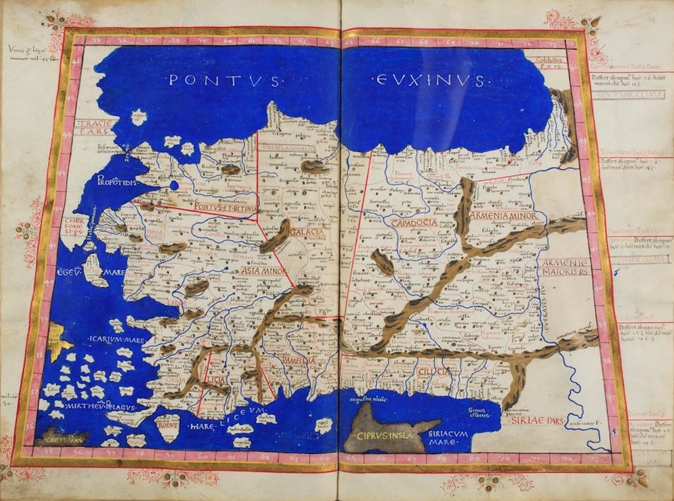 Ptolemy's Map of Asia - I