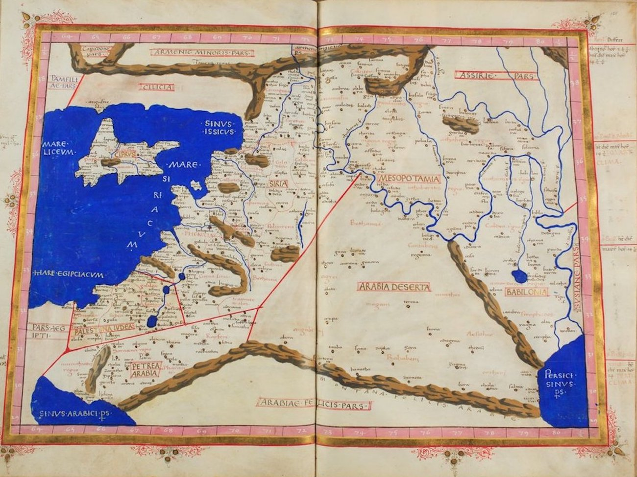 Ptolemy's Map of Asia - IV