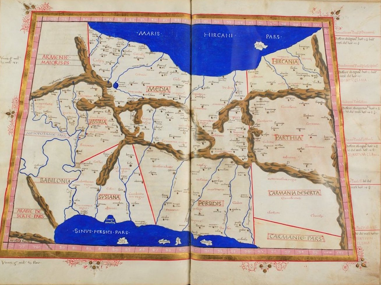 Ptolemy's Map of Asia - V
