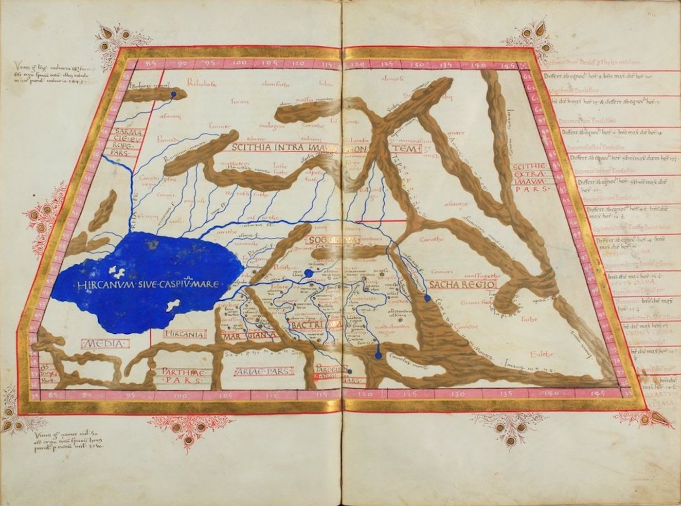 Ptolemy's Map of Asia - VII