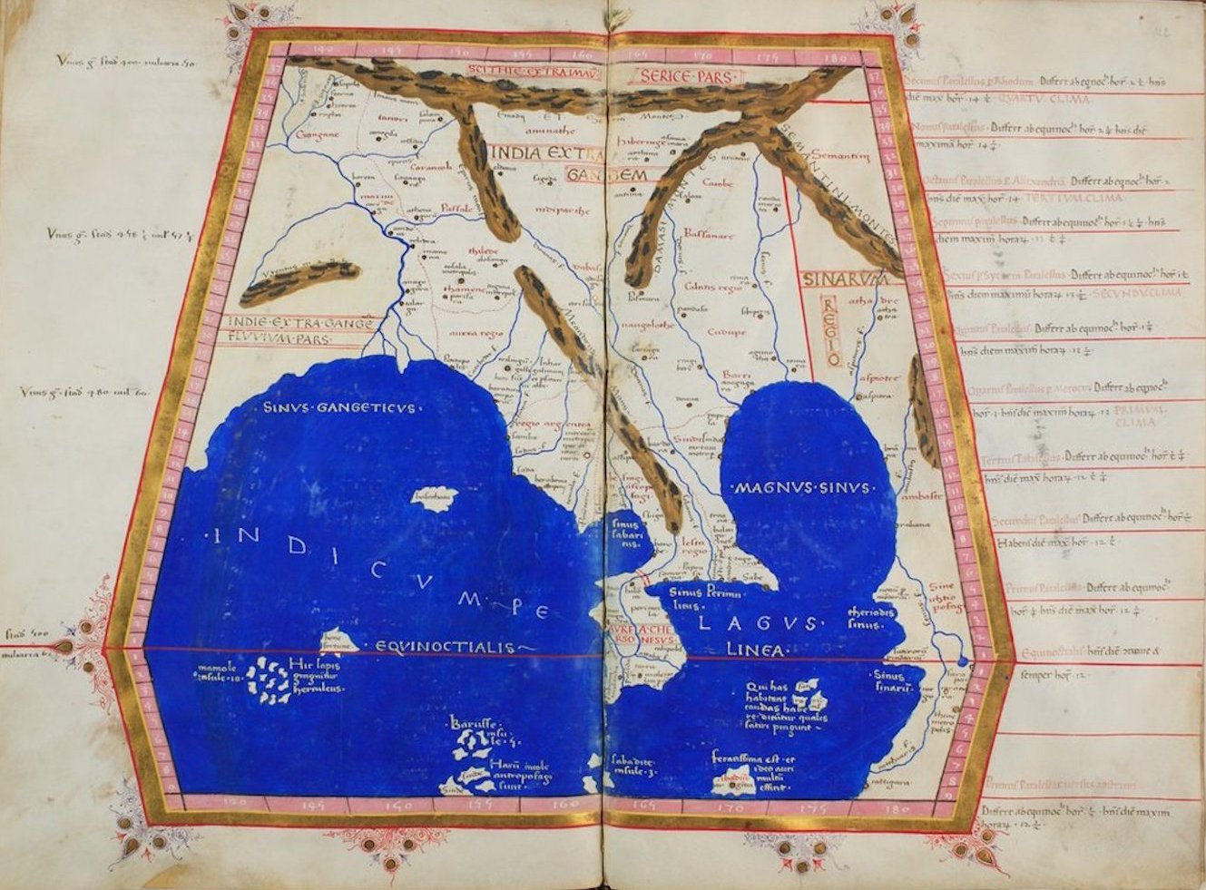 Ptolemy's Map of Asia - XI