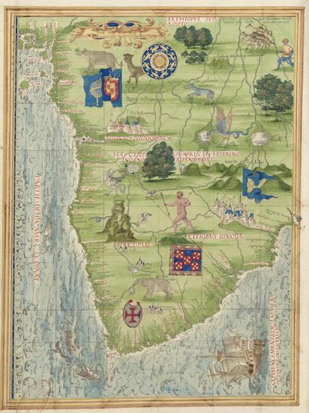 Cosmographie Universelle - Afrique meridionale (1555)