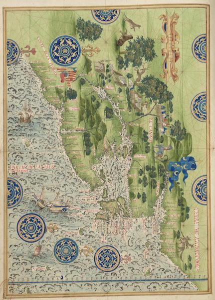 Cosmographie Universelle - Floride, Canada et Labrador (1555)