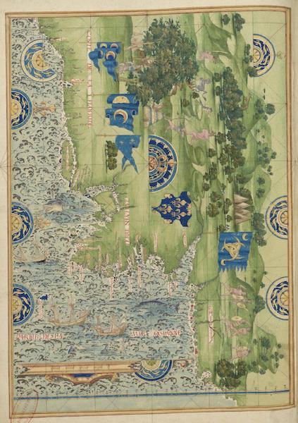 Cosmographie Universelle - Floride, Terre-Neuve et Labrador (1555)
