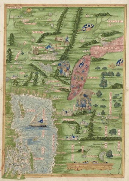 Cosmographie Universelle - Mediterranee orientale et Moyen-Orient (1555)