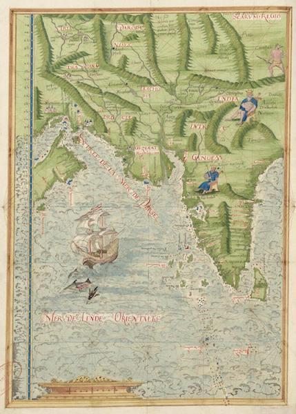 Cosmographie Universelle - Mer de l'Inde orientale [I] (1555)