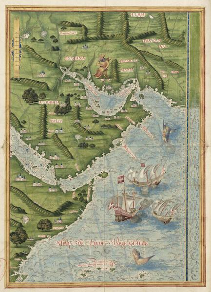 Cosmographie Universelle - Mer rouge et golfe persique (1555)