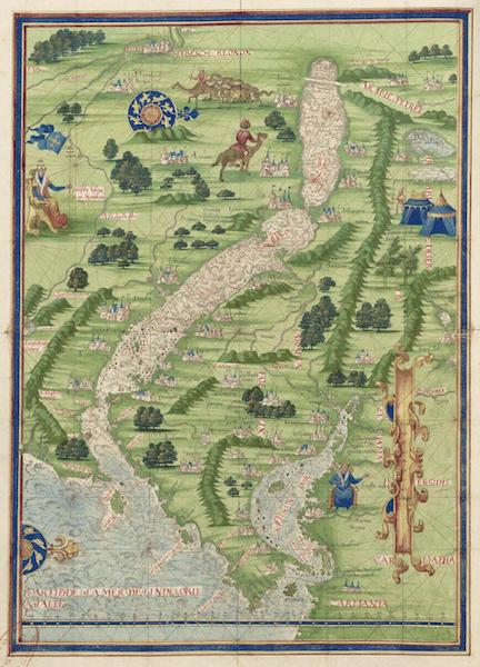Cosmographie Universelle - Ocean indien et mer rouge (1555)