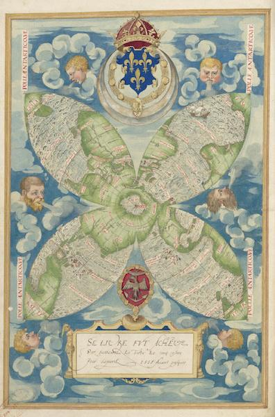 Cosmographie Universelle - Sixieme Projection (1555)