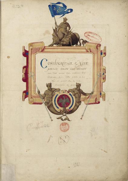 Cosmographie Universelle - Title Page (1555)