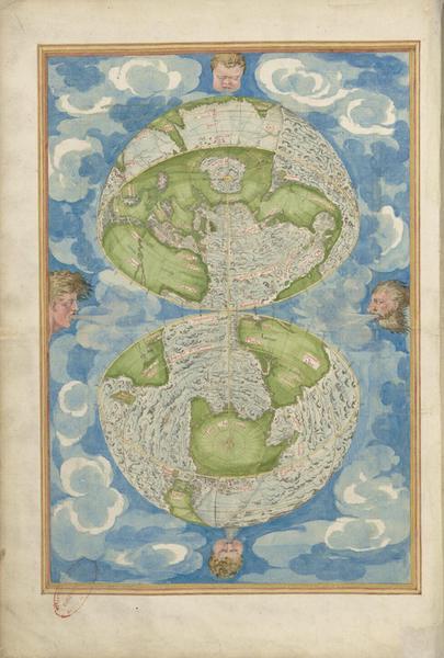 Cosmographie Universelle - Cinquieme Projection (1555)
