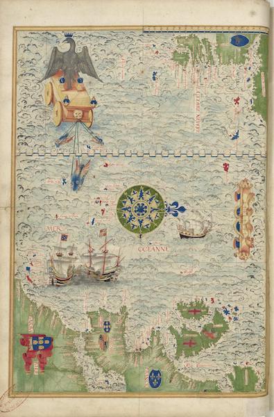 Cosmographie Universelle - Terre-Neuve, Europe et Barbarie (1555)