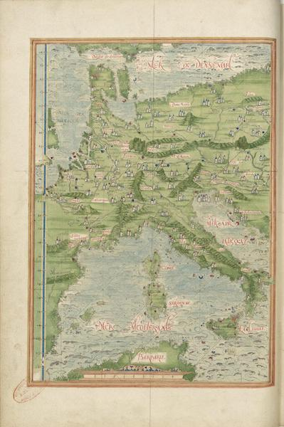 Cosmographie Universelle - Europe centrale et meridionale (1555)