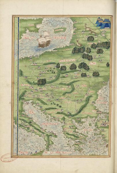 Cosmographie Universelle - Europe meridionale et orientale (1555)
