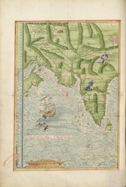Cosmographie Universelle - Mer de l'Inde orientale I (1555)