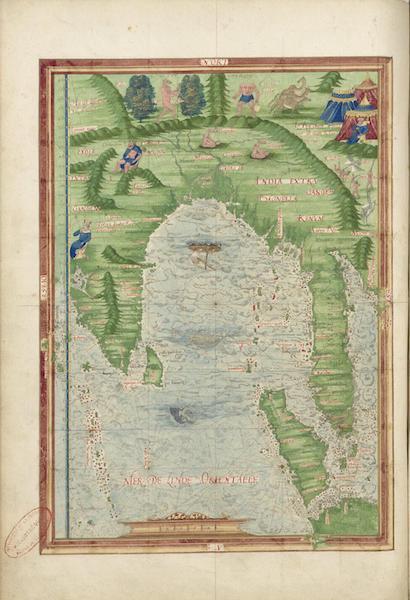 Cosmographie Universelle - Mer de l'Inde orientale II (1555)