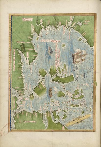 Cosmographie Universelle - Mer de l'Inde orientale et des Moluques (1555)