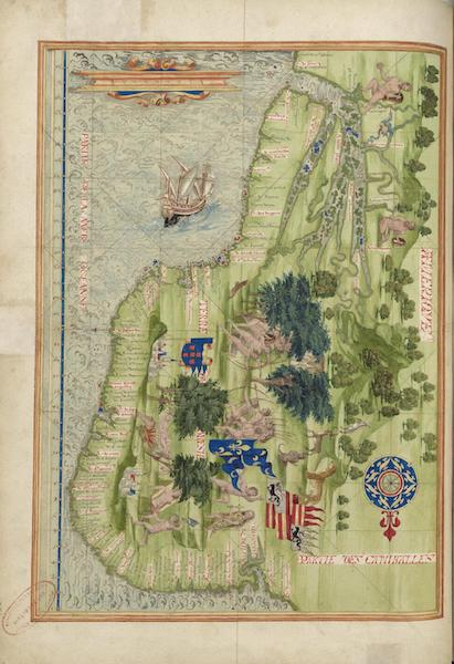 Cosmographie Universelle - Amerique - Terre du Bresil (1555)