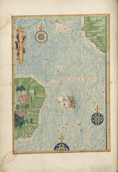 Cosmographie Universelle - Atlantique sud (1555)