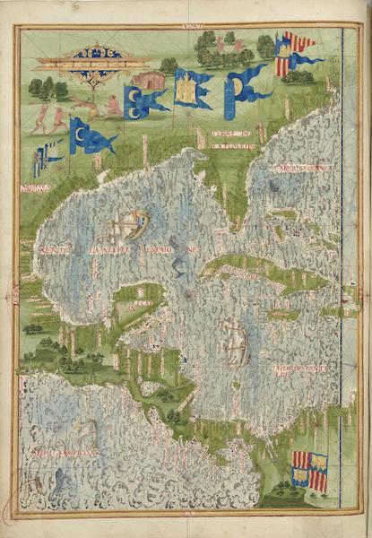 Cosmographie Universelle - Mer des Antilles (1555)