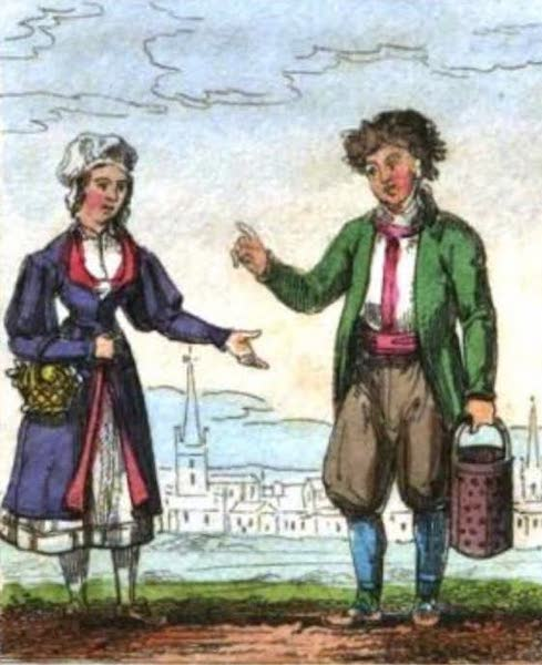 Cosmorama : A View of the Costumes and Peculiarities of all Nations - Swedes (1827)