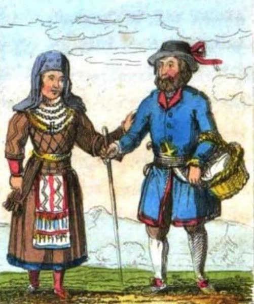 Cosmorama : A View of the Costumes and Peculiarities of all Nations - Finlanders (1827)