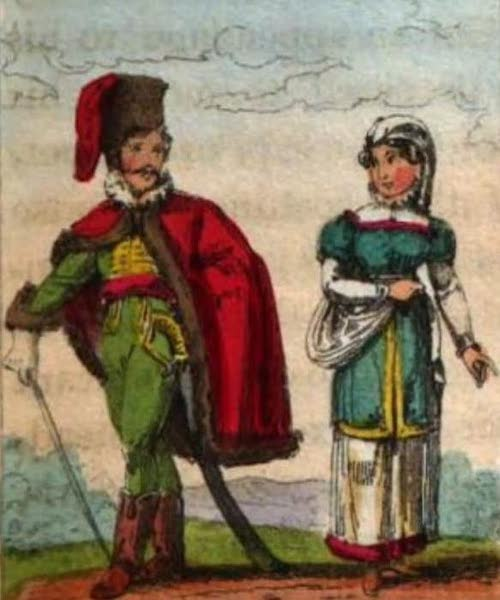 Cosmorama : A View of the Costumes and Peculiarities of all Nations - Hungarians (1827)