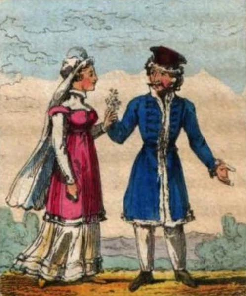 Cosmorama : A View of the Costumes and Peculiarities of all Nations - Prussians (1827)