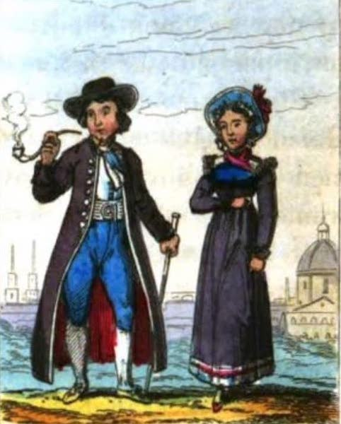 Cosmorama : A View of the Costumes and Peculiarities of all Nations - Austrians (1827)