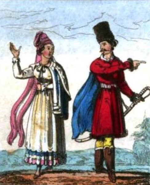 Cosmorama : A View of the Costumes and Peculiarities of all Nations - Poles (1827)