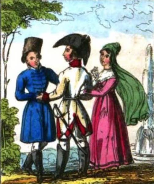 Cosmorama : A View of the Costumes and Peculiarities of all Nations - Hanoverians (1827)