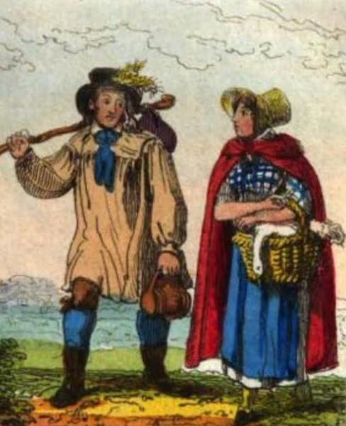 Cosmorama : A View of the Costumes and Peculiarities of all Nations - English Peasants (1827)