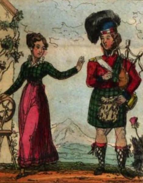 Cosmorama : A View of the Costumes and Peculiarities of all Nations - Scottish Highlanders (1827)