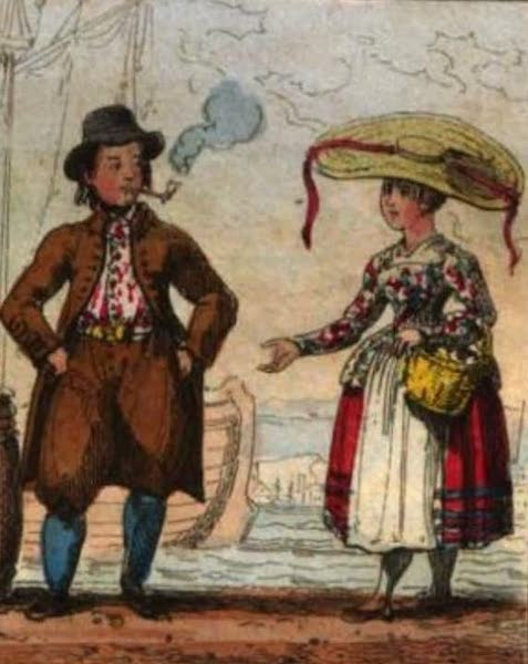 Cosmorama : A View of the Costumes and Peculiarities of all Nations - Hollanders or Dutch (1827)