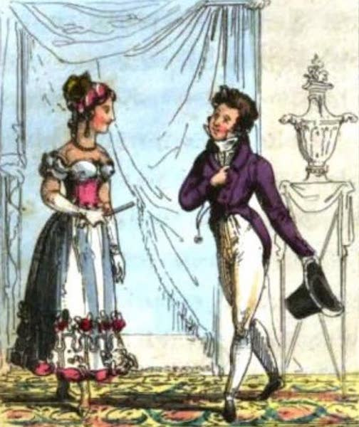 Cosmorama : A View of the Costumes and Peculiarities of all Nations - Parisians (1827)