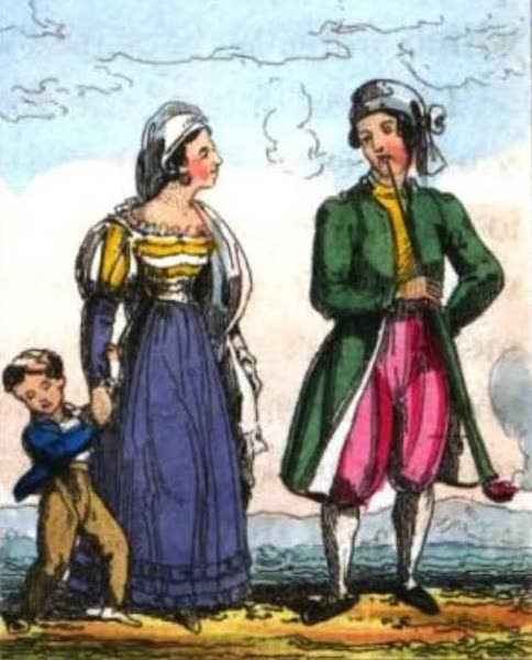 Cosmorama : A View of the Costumes and Peculiarities of all Nations - Corsicans (1827)